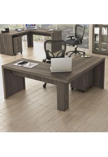 Mesa Para Escritório Angular Me4116 Carvalho - Tecno Mobili