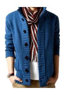 Casaco De Lã Masculino Overland - Azul