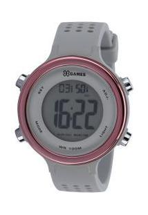 Relógio Digital X Games Xfppd068 - Feminino - Cinza Cla/Rosa