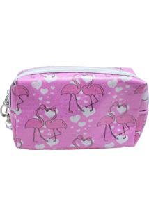 Necessaire Minas De Presentes Flamingos Rosa - Kanui