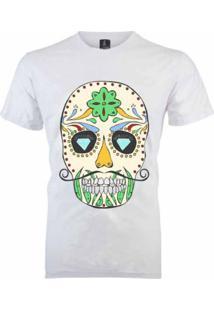 Camiseta João Homor Caveira Mexicana Branca