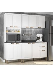 Cozinha Completa 4 Peã§As Americana Multimã³Veis 5906 Branco - Branco/Incolor - Dafiti