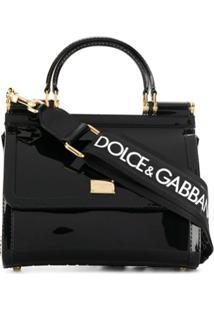Dolce & Gabbana Bolsa Tiracolo Sicily Mini - Preto