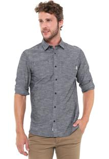 Camisa Jack & Jones Slim Mescla Cinza
