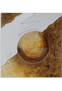 Quadro Abstrato I Uniart Marrom 30X30Cm
