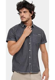 Camisa Colcci Indigo Bolso Masculina - Masculino