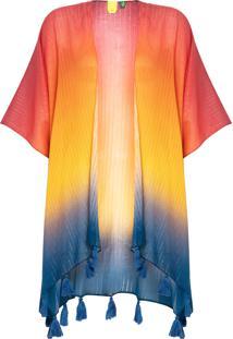 Kimono Feminino Entardecer - Laranja