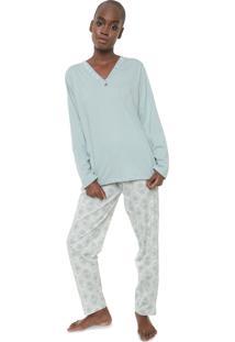 Pijama Pzama Estampado Verde