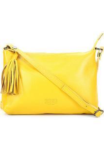 Bolsa Couro Santa Lolla Floater Feminina - Feminino-Amarelo