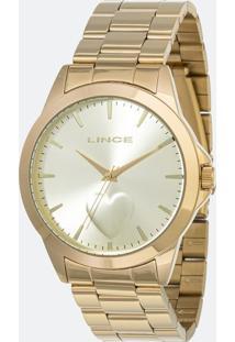 Kit Relógio Feminino Lince Lrgj097L-Kw15C1Kx Analógico 3Atm + Conjunto Semijóia