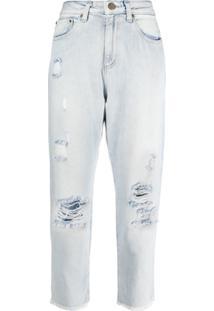 Michael Michael Kors Calça Jeans Com Efeito Destroyed - Azul