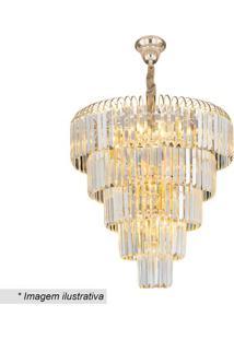 Lustre Versailles- Cristal & Bronze- 65Xø57Cm- Bhevvy