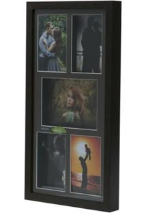 Painel Collection Para 4 Fotos 10X15 E 1 Foto 13X18 53,5X27,5X4Cm - Unissex
