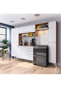 Cozinha Completa 5 Peças 11 Portas Madri Siena Móveis Teka/Branco