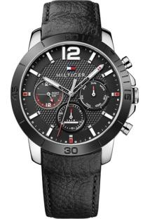 Relógio Tommy Hilfiger Masculino Couro Preto - 1791268