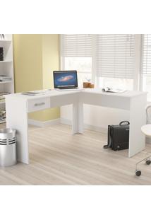 Mesa Para Escritório Fênix 1 Gaveta Branco - Politorno