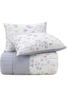 Conjunto De Colcha Malha In Cotton Queen Size - Branco &Altenburg