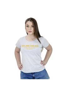 Camiseta De Frases Feminina You Are The Guy Cinza - La Cerise - Bz0013-Cz