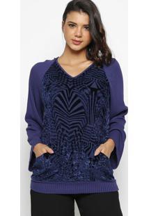 Blusa Aveludada- Azul Marinho- Wool Linewool Line