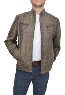 Jaqueta Corazzi Leather Deluxe Estonada Navigazione Brown