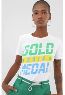 Blusa Ellus Fine Gold Medal Branca - Branco - Feminino - Algodã£O - Dafiti