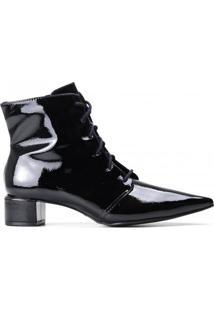 Bota Ankle Boot Zariff Verniz