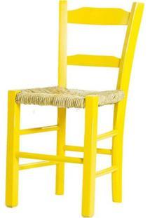 Cadeira Lagiana Pequena Eucalipto Amarela Palha - 31281 - Sun House