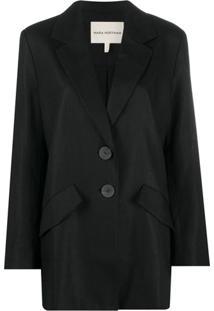 Mara Hoffman Oversized Mid-Length Blazer Jacket - Preto