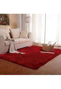 Tapete Para Sala Premium 150X200Cm Vermelho