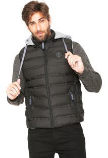 Colete Puffer Polo Wear Básico Preto