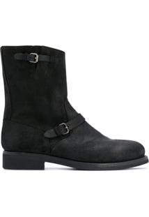 Buttero Ankle Boot Com Detalhe De Fivela - Preto