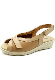 Sandã¡Lia Anabela Doctor Shoes 196 Bege - Bege - Feminino - Dafiti
