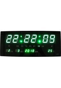 c41e686be31 ... Relogio Digital De Parede Alarme Led Verde Termo Data (Bsl-Rel-58)