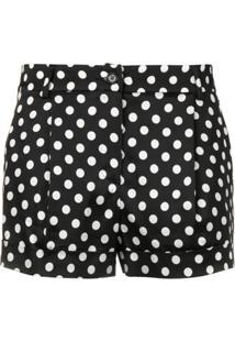 Moschino Tailored Polka Dot Shorts - Preto