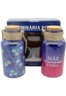 Luminárias Mãe Única Roxo E Rosa Zona Criativa