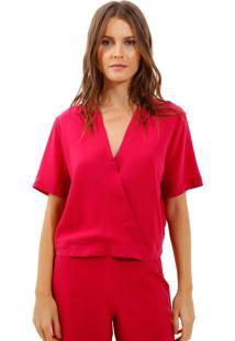 Blusa Bobô Clarice Seda Rosa Feminina (Rosa Escuro, Gg)