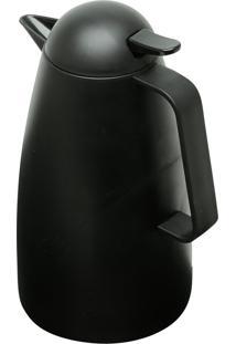 Garrafa Térmica De Plástico Com Gatilho Sarah Preta 1L Bon Gourmet