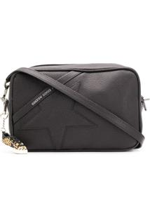Golden Goose Embossed Star Cross Body Bag - Preto
