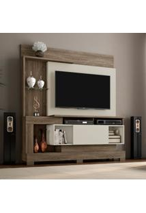Estante Para Home Theater E Tv 50 Polegadas Madri Canela E Areia