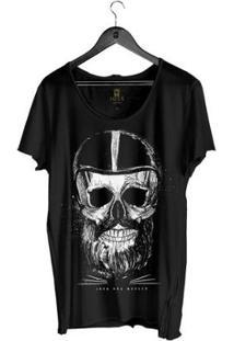 Camiseta Estonada Corte À Fio Joss Iron Masculina - Masculino