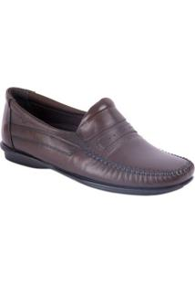 Sapato Mocassim De C Rafarillo Castanho - Masculino-Marrom Escuro