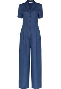Lvir Wide-Leg Tailored Jumpsuit - Azul