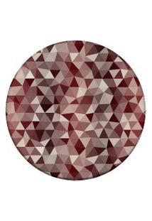 Tapete Love Decor Redondo Wevans Abstrato Vermelho 94Cm