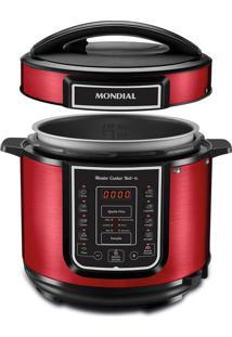 Panela De Pressão Elétrica Mondial Master Cooker Red Pe-39 Panela Elétrica Press O-127V-Vermelho/Inox