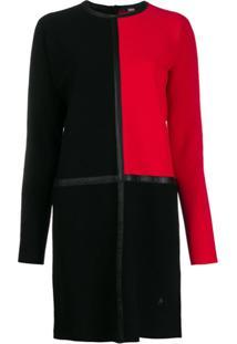 Karl Lagerfeld Colour-Block Knit Dress - Preto