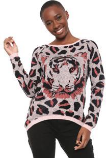 Suéter Desigual Tricot Adhara Rosa