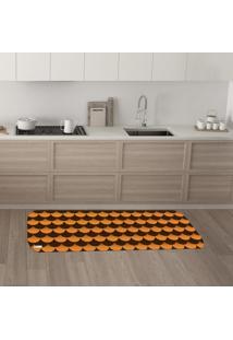Tapete De Cozinha Mdecore Abstrato Laranja 40X120Cm