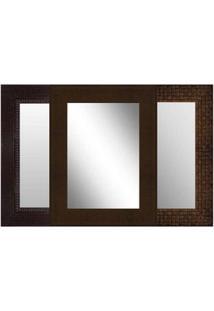 Espelho Emoldurado 63X83Cm Tabaco Euroquadro