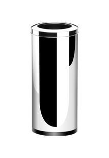 Lixeira Inox Com Aro 40,5 Litros - Decorline Lixeiras Ø 30 X 60 Cm - Brinox