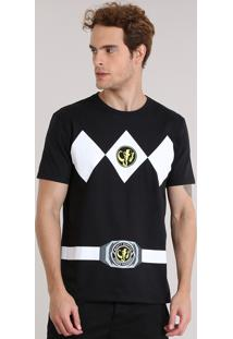 Camiseta Masculina Carnaval Power Ranger Preta
